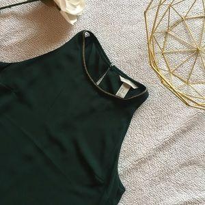 NWT H&M Green Asymmetrical Dress